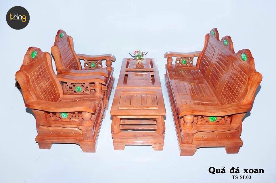 Salon mẫu quả đá gỗ Xoan Ta