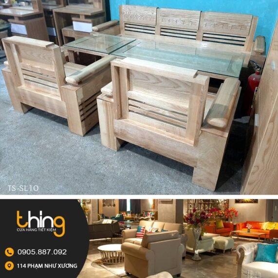 bàn ghế salon đối gỗ sồi tay trứng