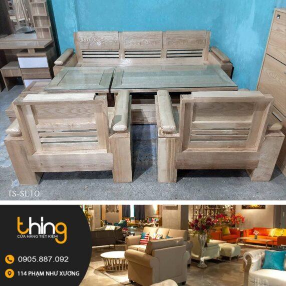 bàn ghế salon gỗ sồi tại Đà Nẵng