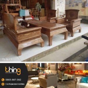 salon hoàng cung gỗ sồi