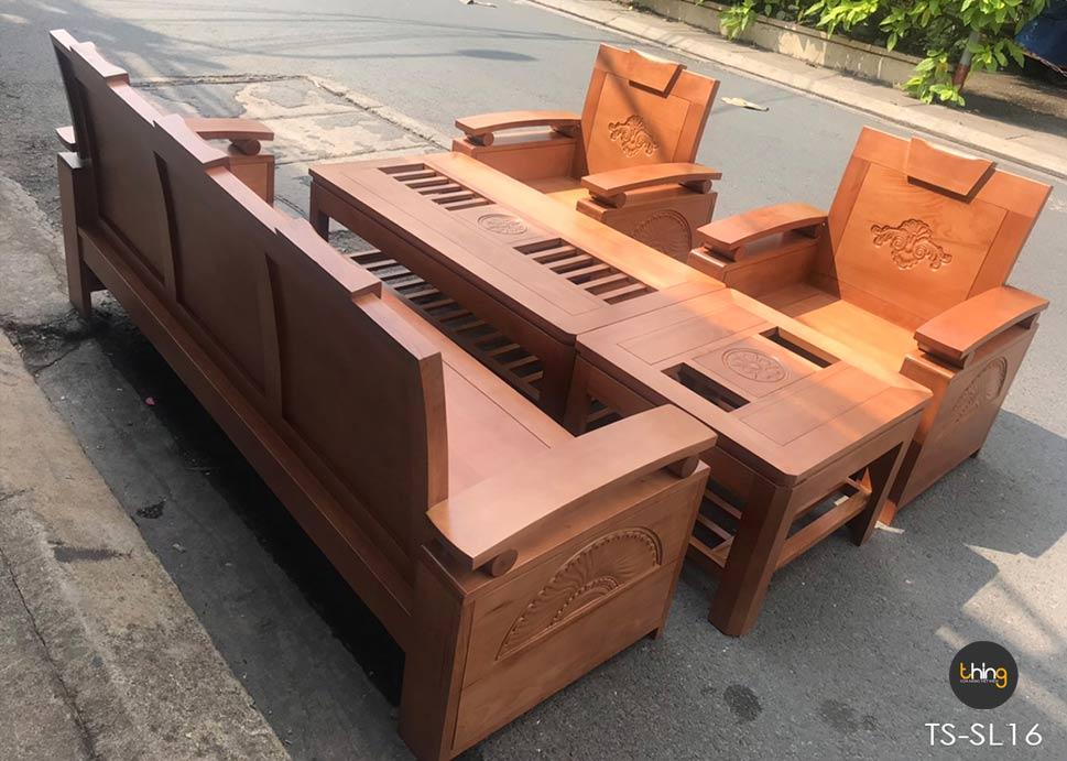 salon tay chồng gỗ Sồi