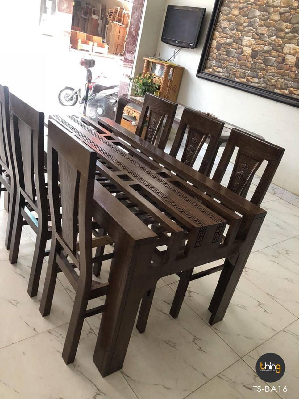 bàn ăn gỗ Sồi TS-BA16