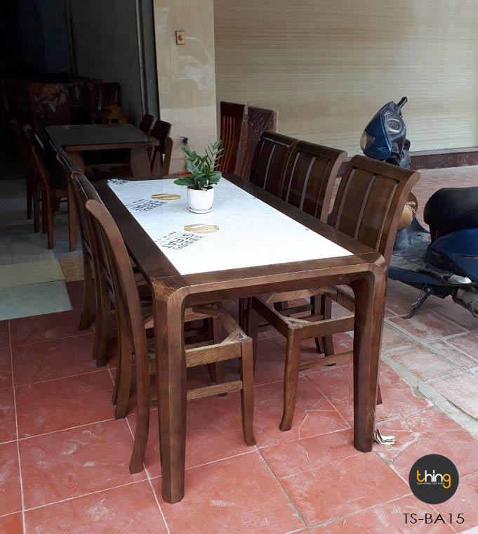 bàn ghế ăn mặt đá gỗ Sồi Thing Store
