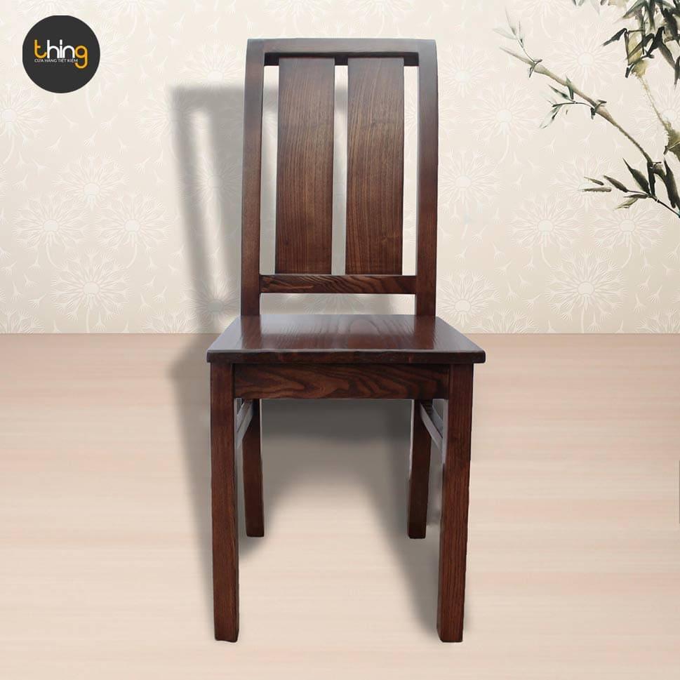 ghế 2 nan lưng cong gỗ sồi
