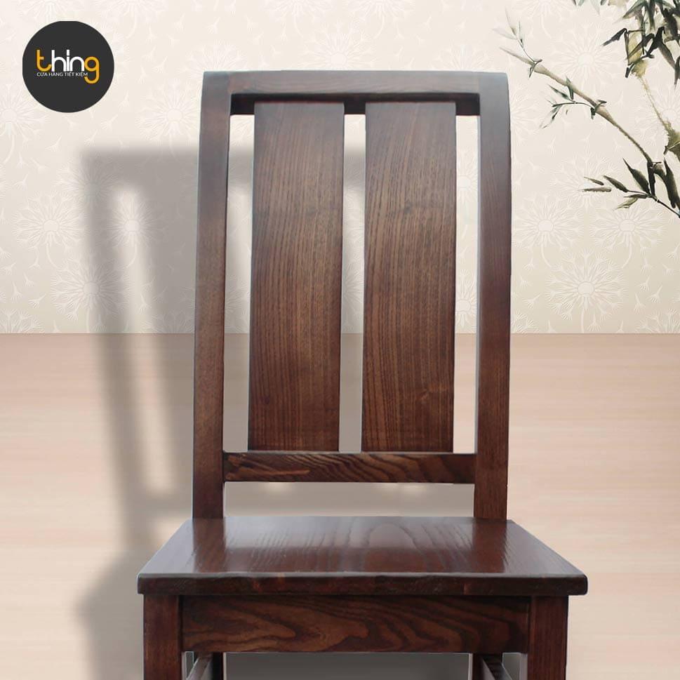 ghế gỗ sồi 2 nan cong