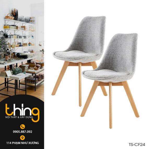 ghế bọc vải chân gỗ Eames