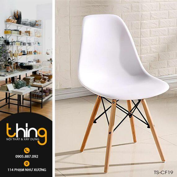 ghế nhựa Eames màu trắng